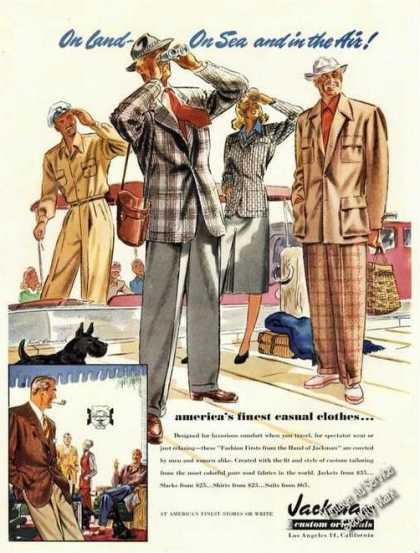 Jackman Casual Clothes Advertising Art (1947)
