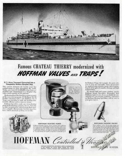 Troop Ship Chateau Thierry Changed To Hospital (1944)