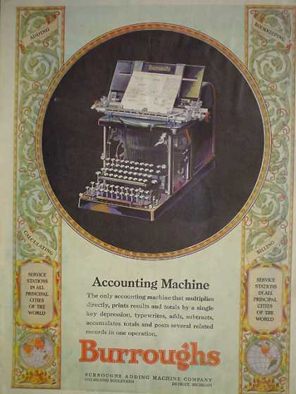 Burroughs Accounting Machine Adding Machine Company (1929)