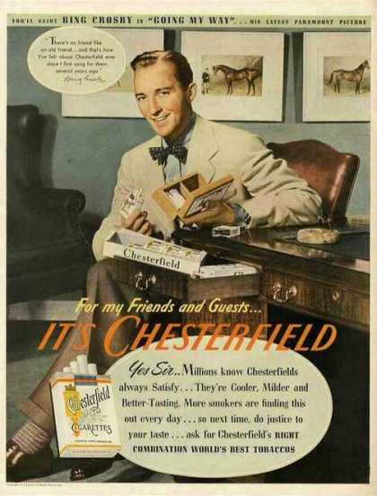 Bing Crosby Photo Antique Chesterfield (1944)