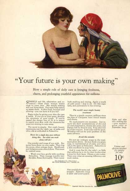"Palmolive Company's Palmolive Soap – ""Your future is your own making"" (1924)"