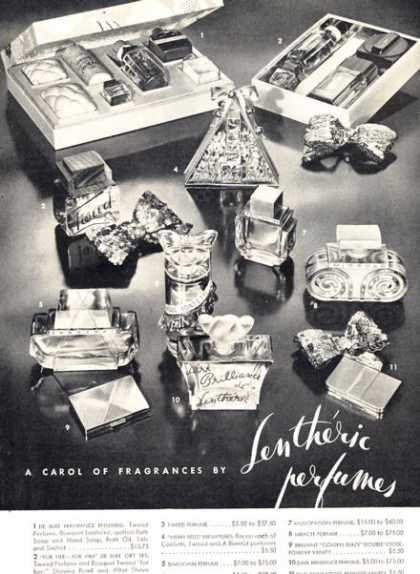Lentheric Perfumes Set Assortment Details (1947)