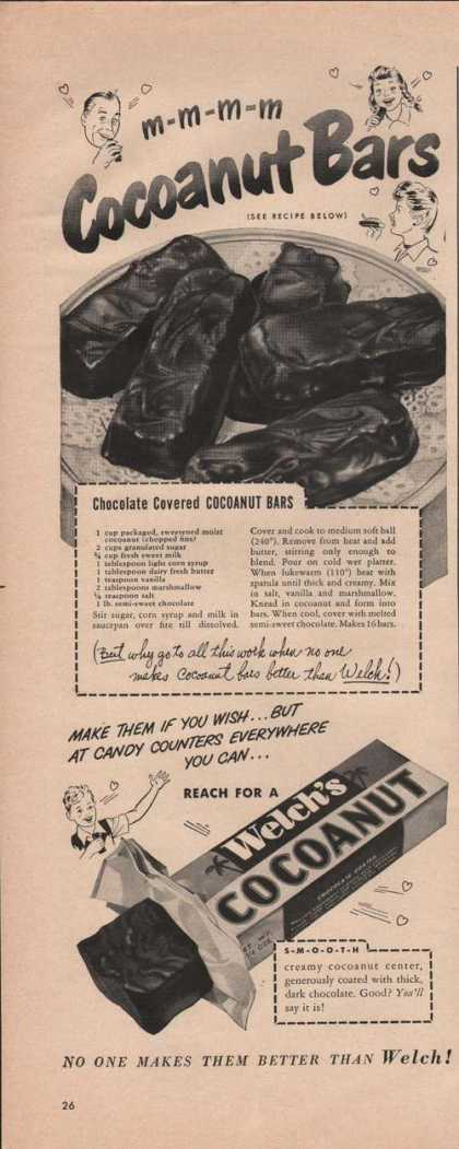 Welchs Cocoanut Candy Bar (1949)