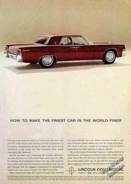 Lincoln Continental Finest Made Finer (1963)