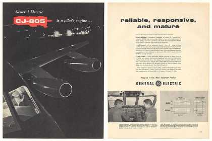 GE General Electric CJ-805 Aircraft Engine 2-Pg (1959)
