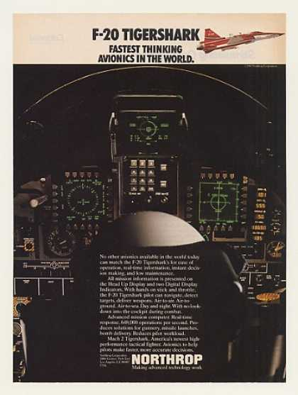 Northrop F-20 Tigershark Aircraft Cockpit HUD (1983)