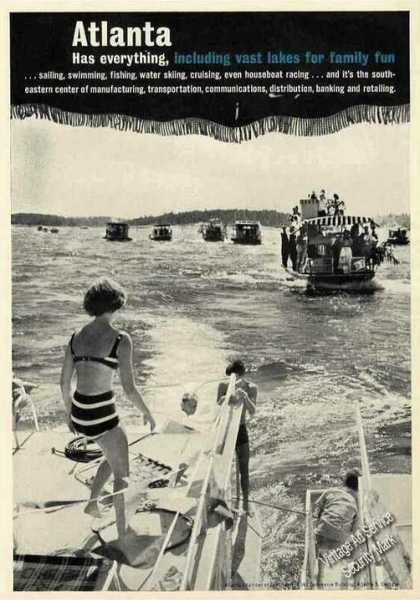 Atlanta Has Everything Vast Lakes Party Boats (1962)