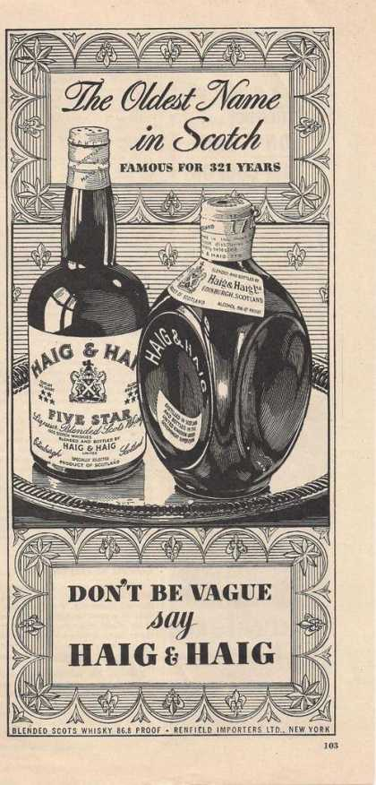Haig & Haig Oldest Name In Scotch (1948)