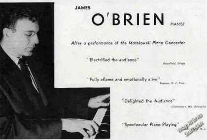 James O'brien Photo Piano Booking (1955)
