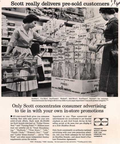 Scott Paper Company's Scott Paper Products – Scott really delivers pre-sold customers (1958)