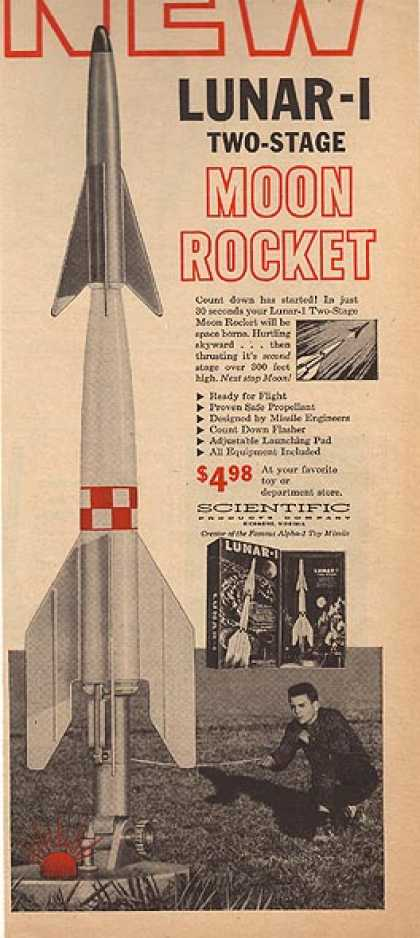 Lunar 1's Two-stage Moon Rocket (1959)