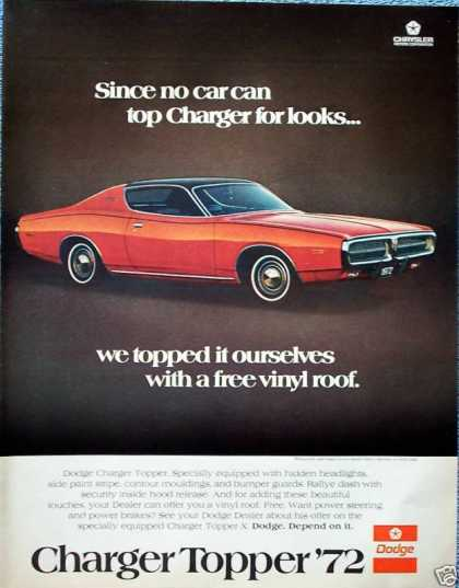Dodge Charger Topper For Looks Vinyl Roof (1972)