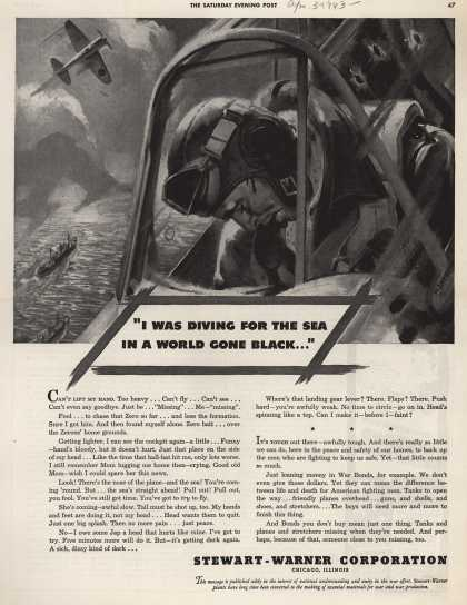 "Stewart-Warner Corporation's War Bonds – ""I Was Diving For the Sea In a World Gone Black..."" (1943)"