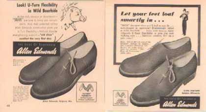 Allen Edmonds Shoe Ads – Shoe of Tomorrow – Set of Two (1948)