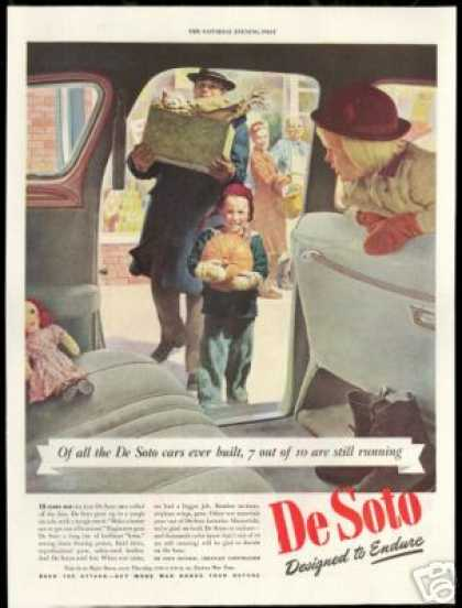 De Soto Family Grocery Shopping DeSoto Car (1944)