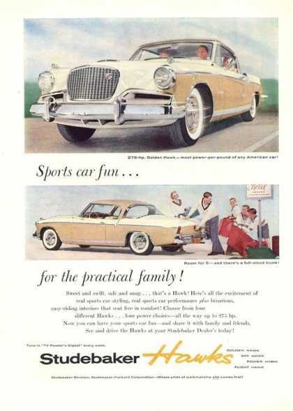 Studebaker Hawks Golden Great Flipside (1956)