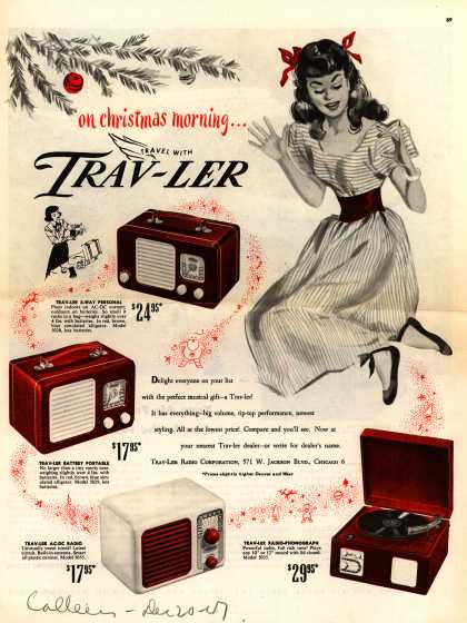 Trav-Ler Radio Corporation's Various – on christmas morning... Travel With Trav-Ler (1947)