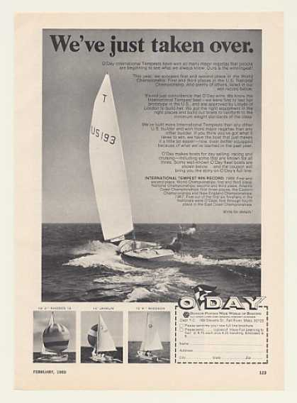 O'Day International Tempest Sailboat Photo (1969)