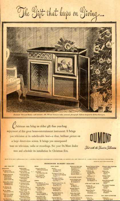 Allen B. DuMont Laboratorie's Radio Phonograph Television – The Gift that keeps on Giving... (1947)