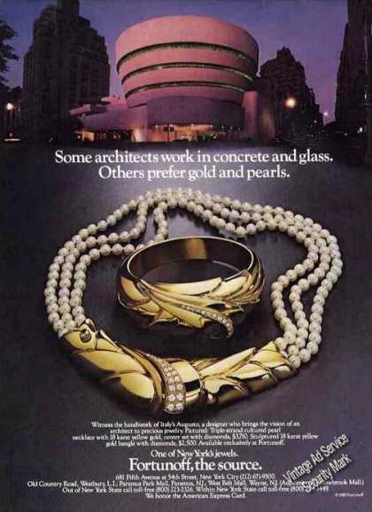 Jewelry Design By Italy's Augusto Fortunoff (1985)