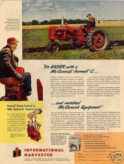 International Mccormick Farmall C Tractor (1950)