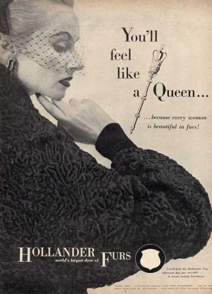 Hollander Furs Pershian Lamb Fashion Coat (1952)