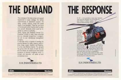 Agusta Westland EH 101 Helicopter Photo (1988)