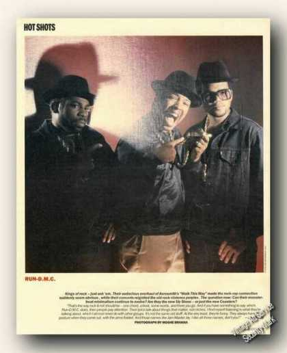 Run-d.m.c. Magazine Picture Print Feature (1986)