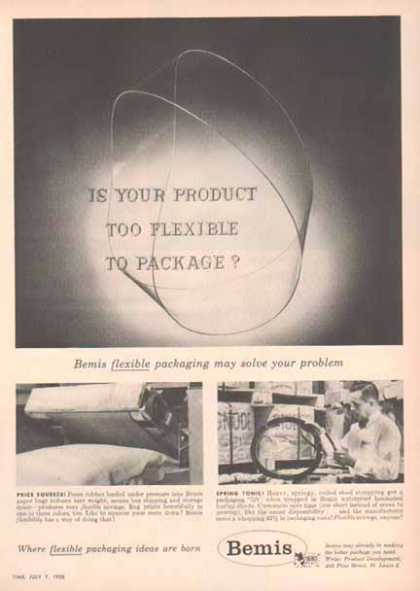 Bemis – The Product Too Flexible To Package (1958)