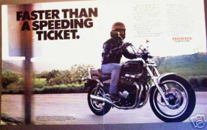 Honda 550 Nighthawk Motorcycle 2pg Photo (1983)