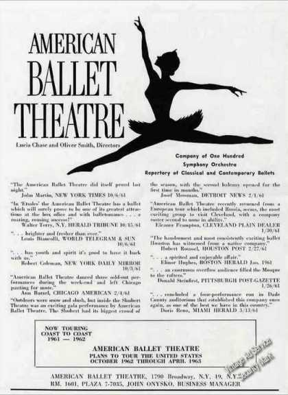 American Ballet Theatre Tour Promo & Booking (1962)