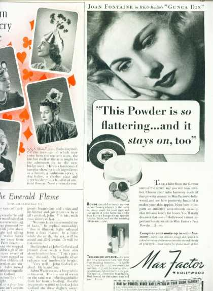Max Factor Hollywood Face Powder Joan Fontaine (1939)