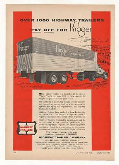 Kroger Store Highway Truck Trailer (1956)
