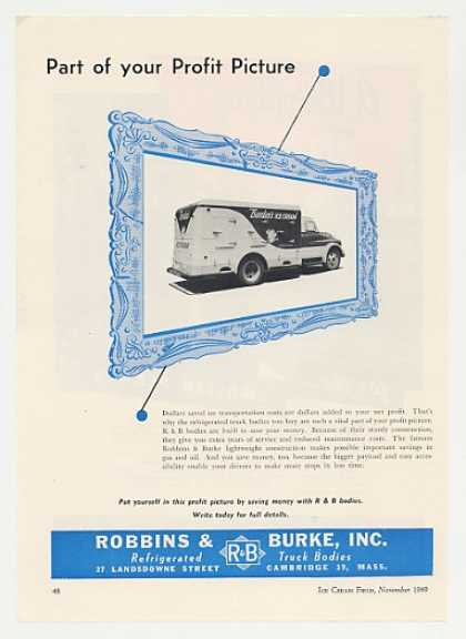 Borden's Ice Cream R & B Refrigerated Truck (1949)