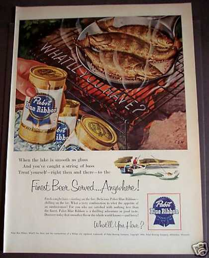 Pabst Blue Ribbon Beer (1954)