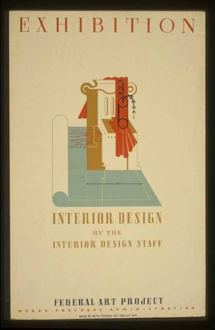 Exhibition – Interior design by the interior design staff, Federal Art Project, Works Progress Administration. (1936)