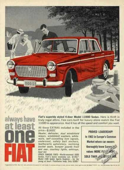 "Fiat 1100d Sedan ""Always Have at Least One"" (1964)"