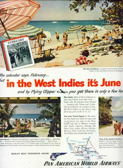 Pan American World Airways Montego Bay Jamaica C (1950)