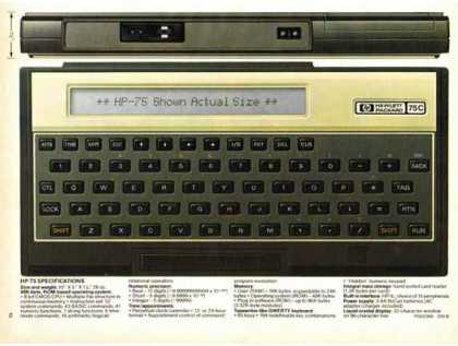 Hewlett- Packard HP-75 Portable Computer (1983)