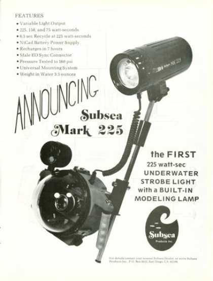Subsea Mark 225 Underwater Light Strobe (1975)