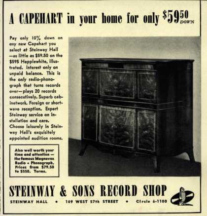 Capehart Corporation's Radio – A CAPEHART in your home for only $59.50 (1940)