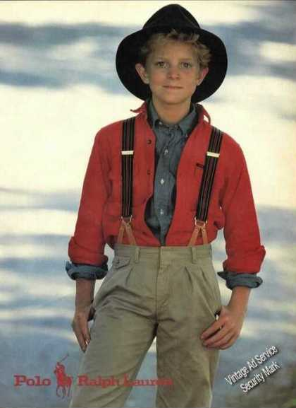 Polo Ralph Lauren Young Boy Fashion Advertising (1984)