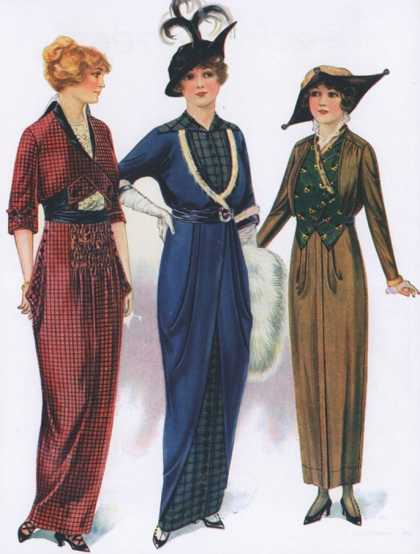 Womens Hats Dresses, USA (1910)