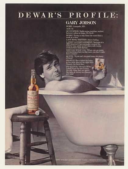 Gary Jobson Dewar's Profile White Label Scotch (1985)