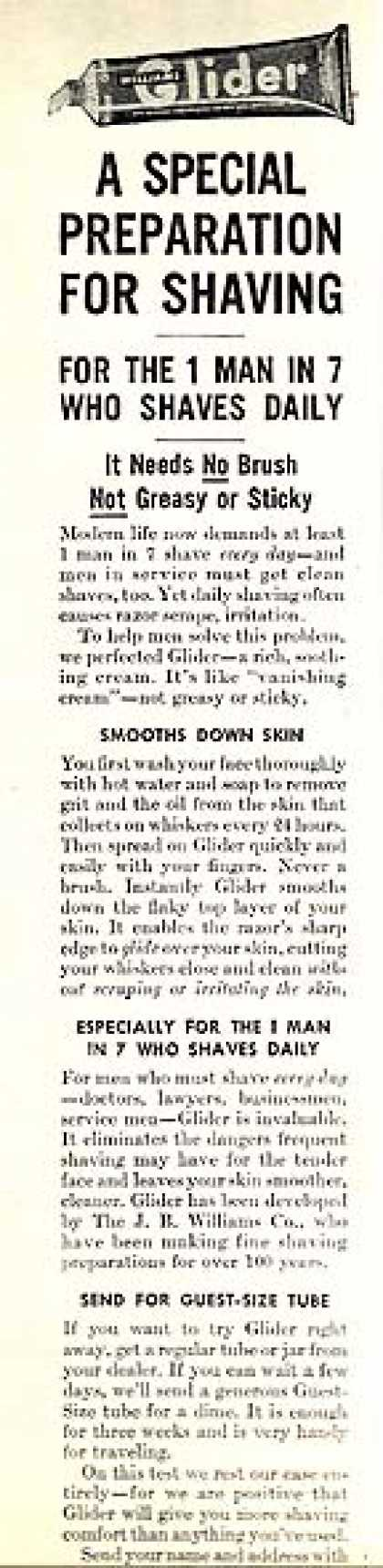 Glider's Shaving Cream in a Tube (1945)