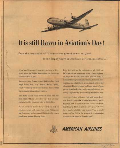 American Airlines – It is Still Dawn in Aviation's Day (1949)