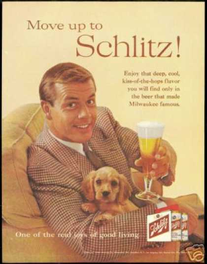 Cocker Spaniel Puppy Photo Schlitz Beer (1960)