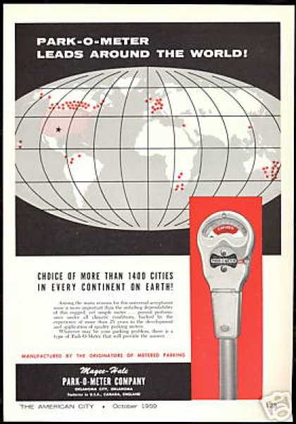 MH Parking Park O Meter Every Continent (1959)