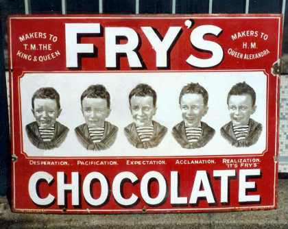 Fry's Five Boys Chocolate Sign – Red