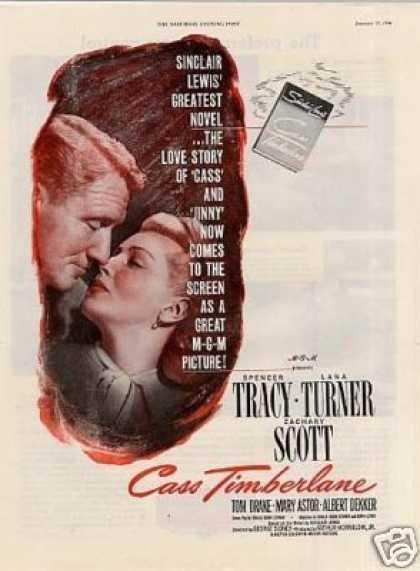 "Movie Ad ""Cass Timberlane"" Lana Turner (1948)"